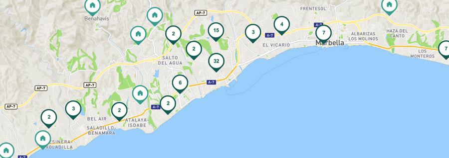 viviendas en alquiler en Marbella