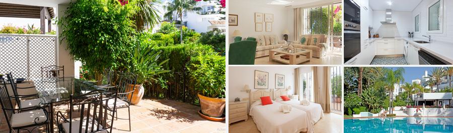 alquiler vacacional en apartamento en Elviria Marbella